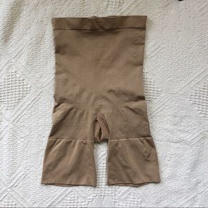 SPANX Nude High Waisted Slimming Shorts